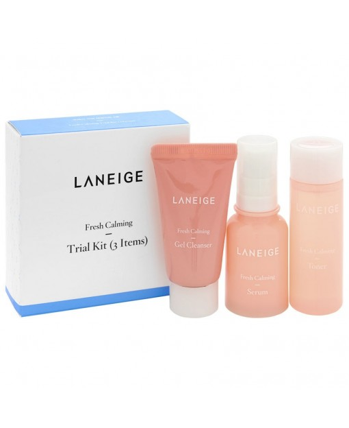 FRESH CALMING TRIAL KIT, 3 PZAS. LANEIGE